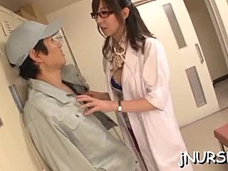 German, Japanese, Asian, Hospital, Nurse, Huge, Handjob